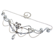 Elf Runes Bridal Circlet Silver Starlight