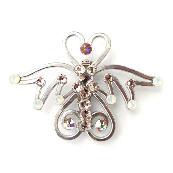 Angel Brooch Silver Moonlight