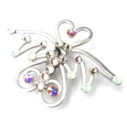 Angel Brooch Silver Starlight Left