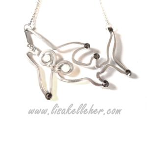 Shark Necklace Silver Moonlight