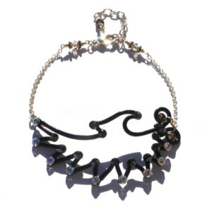 Angel Wing Anklet Midnight Tuxedo