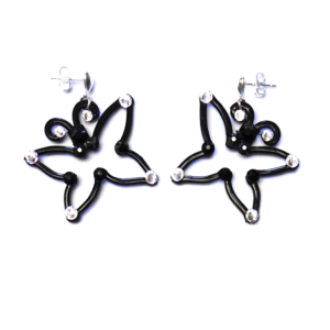 Butterfly Earrings Midnight Tuxedo