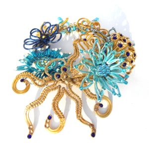 Mermaid Crown Gold and Turquoise Detail