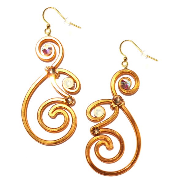 Nautilus Earrings Gold Sunlight