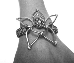 Orchid Infinity Corsage Bracelet