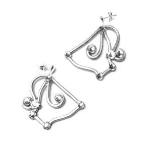 Teacup Earrings Silver Moonlight