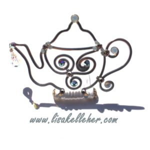 Teapot Tiara Silver Moonlight