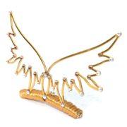 Angel Wings Tiara Gold Sunlight