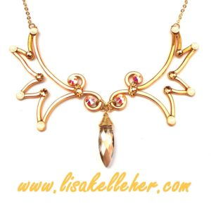 Angel Wings Necklace Gold Sunlight Main