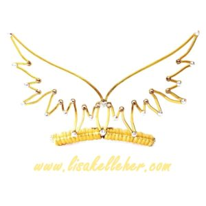 Angel Wings Tiara Gold Sunlight