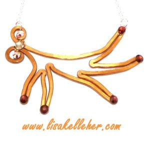 Antler Necklace Copper Main