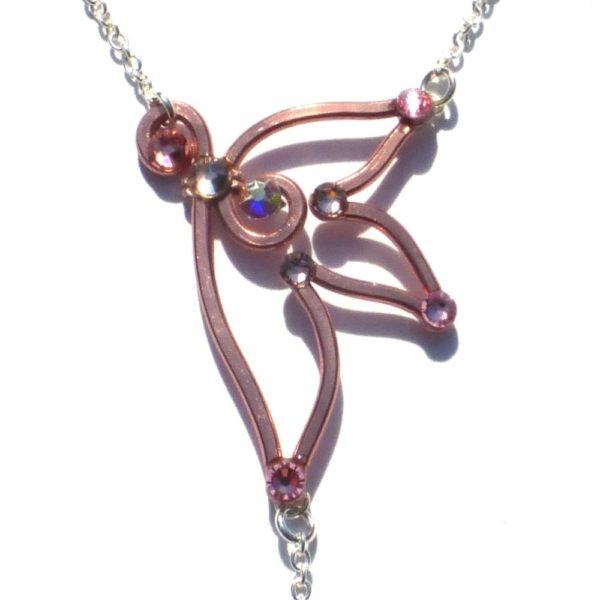 Fairy Wing Ring Bracelet Rose Gold