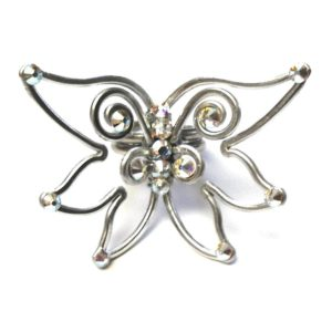 Fairy Wings Ring Silver Crystal Iridescent