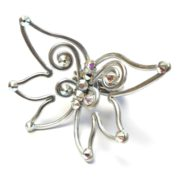 Fairy Wings Ring Silver Iridescent