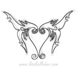 Mermaid Tail Elf Ears Black and White