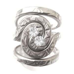 Pewter Spiral Galaxy Ring Adjustable