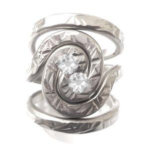 Pewter Spiral Galaxy Ring Adjustable