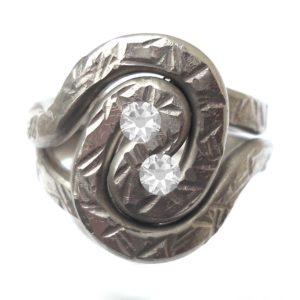 Pewter Spiral Adjustable Ring