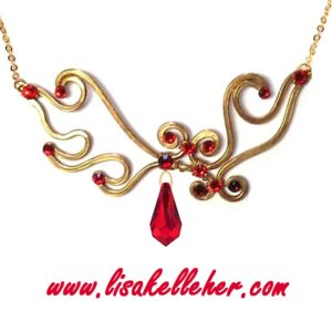 Phoenix Flames Necklace Gold Main