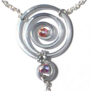 Spiral Ring Bracelet Silver Moonlight