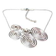 Spirals Necklace Silver Crystal Ice