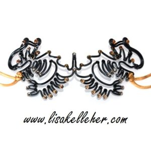 Dragon Two Headed Unisex Masquerade Mask Eye Patch Midnight Industrial