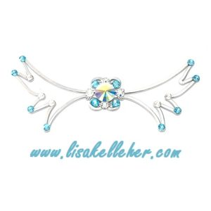 Angel Wings Bow Tie Aquamarine Main