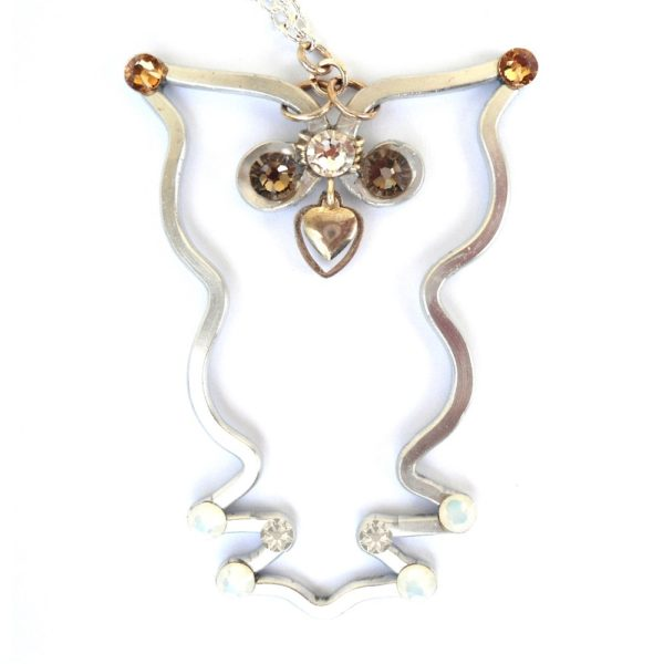 Baby Owl Necklace Silver Main
