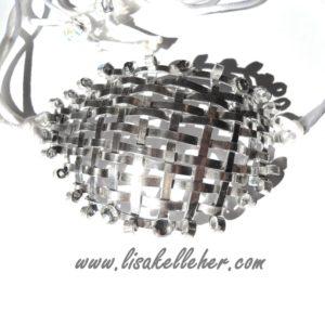 Eye Patch Metal Weave Silver Moonlight Main