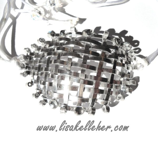Eye Patch Metal Weave Silver Moonlight Main