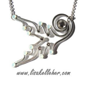 Mermaid Tail Neckace Silver Moonlight Main
