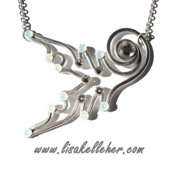 Mermaid Tail Neckace Silver Moonlight Main