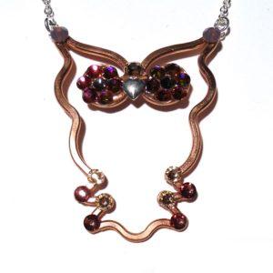 Baby Owl Necklace Bronze Main