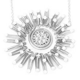 Sea Anemone Necklace Black and White Main
