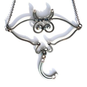 Stingray Necklace Charcoal Main