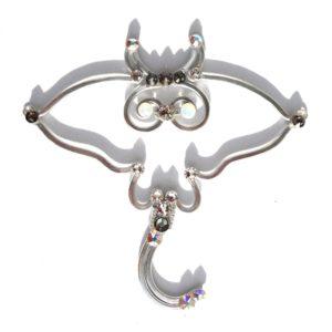 Stingray Necklace Silver Moonlight Main