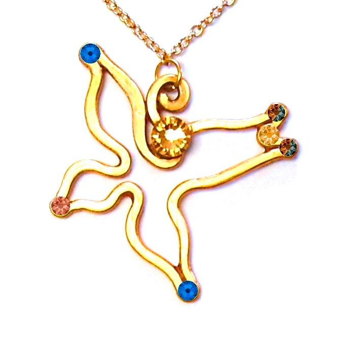 Swallow pendant gold lisa kelleher mythical accessories and swallow pendant gold mozeypictures Gallery