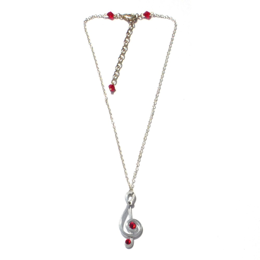 treble clef pendant silver ruby kelleher mythical