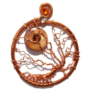 Tree of Life Harvest Moon Pendant Copper