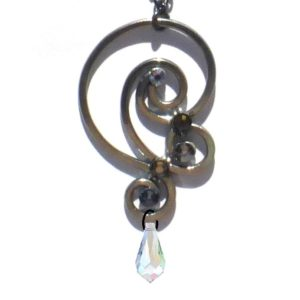 Wave Pendant Charcoal Steel Main
