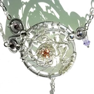 Tree of Life Bird's Nest Ring Bracelet Silver Alexandrite Peacock Pearl Eggs Main