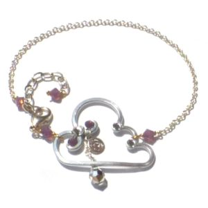 Cloud Silver Lining Anklet Silver Orchid