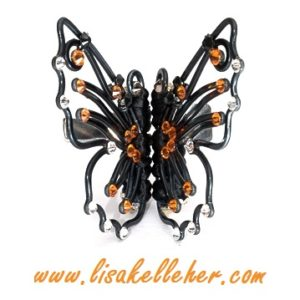 Monarch Butterfly Hair Clips Midnight Maralade