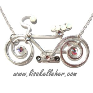 Bicycle Necklace Silver Moonlight