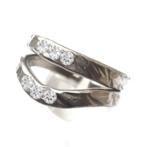 Pewter Two Become One Adjustable Ring