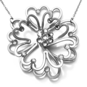 Poppy Necklace Black and White Main